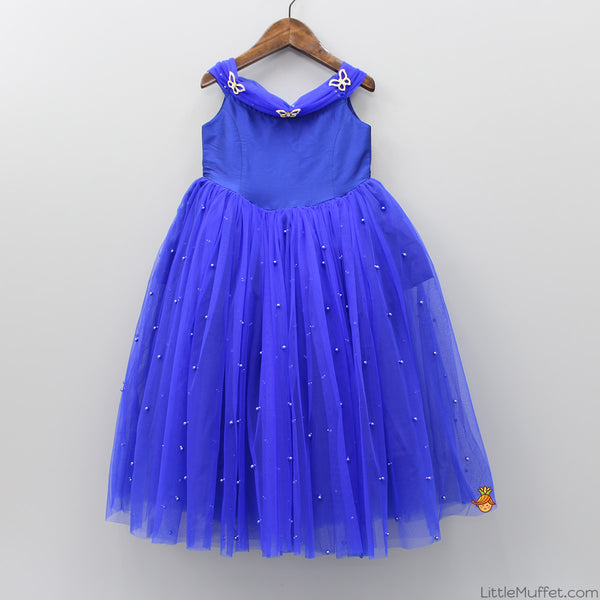 Royal Blue Butterfly Gown