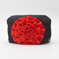 Black And Red Rosy Sling Bag