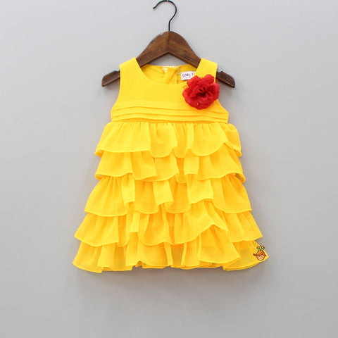 Yellow Frilly Dress