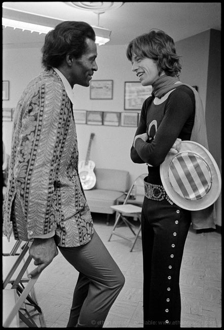 Chuck Berry and Mick Jagger 1969