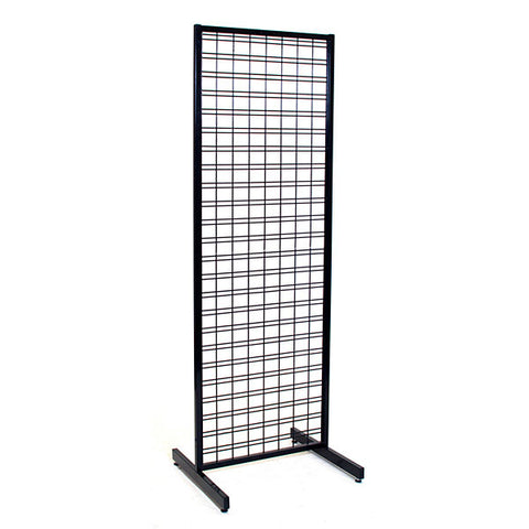 Slatgrid unit- 2'x6'  black with T-Legs