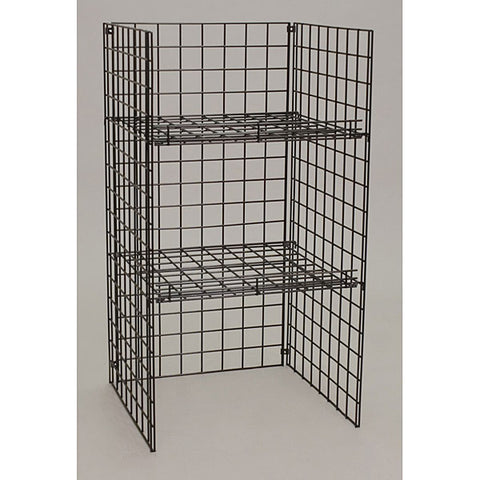"Grid unit black,48""hx24""wx24""d"