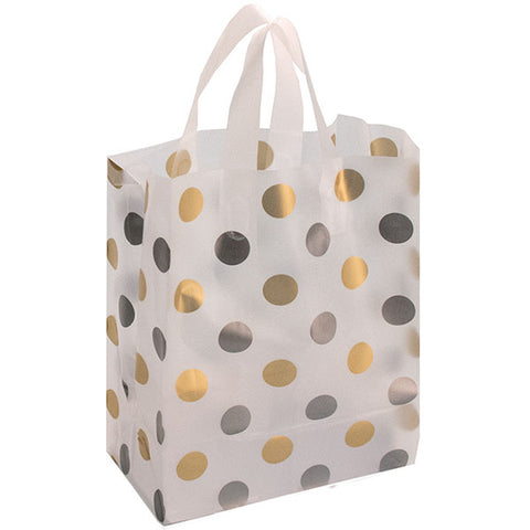 Frosted Bag - Polka Dot: Silver/Gold