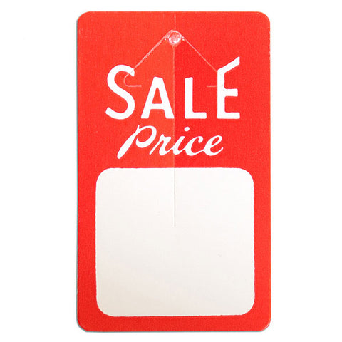 "Button tag ""sale price"" red & white 1000/box"