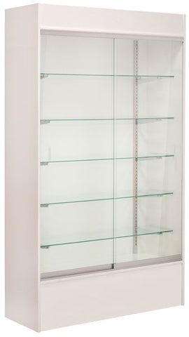 "Wall unit display - white 48"" with light"