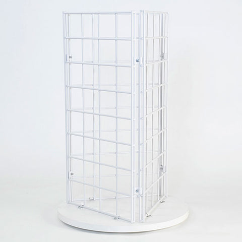 "Grid Countertop Spinner Display 3-sided 3""OC, White"