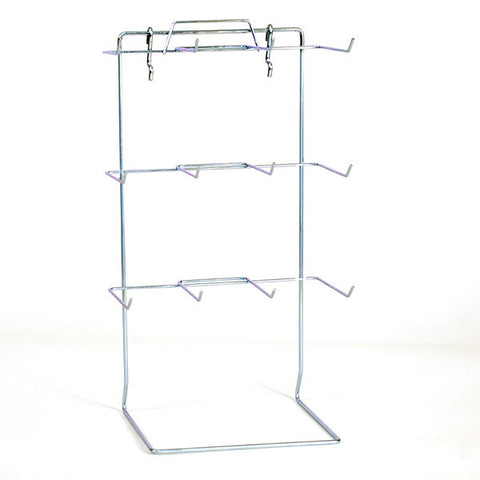 "Countertop rack also fits slatwall or pegboard , 12 peg 17-1/2""hx10""wx6.5""d, hooks 4-1/2"" long"
