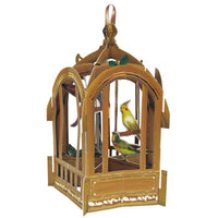 Greeting Life Bird Cage Card Brown TK-9