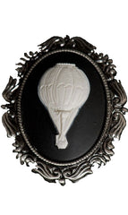 Steampunk Brooch, Steampunk Hot Air Balloon Cameo, Steampunk Accessories, Steampunk Clothing