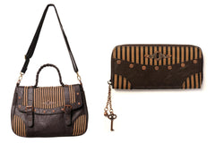 Pinstriped Bag & Purse Combo (Sold Out)