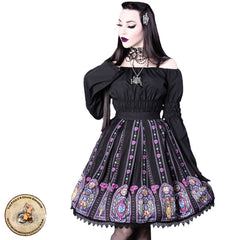 Gothic Lolita Skirt | Beauty and the Beast Lolita Skirt | Stained Glass Gothic Skirt | Fairy Tale Skirt