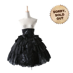 Blackberry Gothic Skirt | Gothic Lolita Style Skirt | Black Pyon Pyon Skirt | Steampunk Skirt | Gothic Skirt
