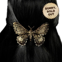 Clockwork Butterfly Hair Pin Antique Brass Colour