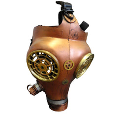 Steampunk gas mask Antique Copper Colour