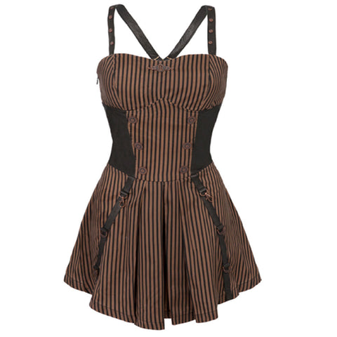 Steampunk Dress, Steampunk dresses Black and Brown Steampunk Dress Steampunk Clothes UK Image 5