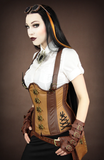 Steampunk Corset, Underbust Steampunk Corset, Steampunk Clothing UK side Image