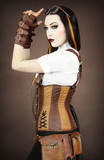 Steampunk Corset, Underbust Steampunk Corset, Steampunk Clothing UK arms Image