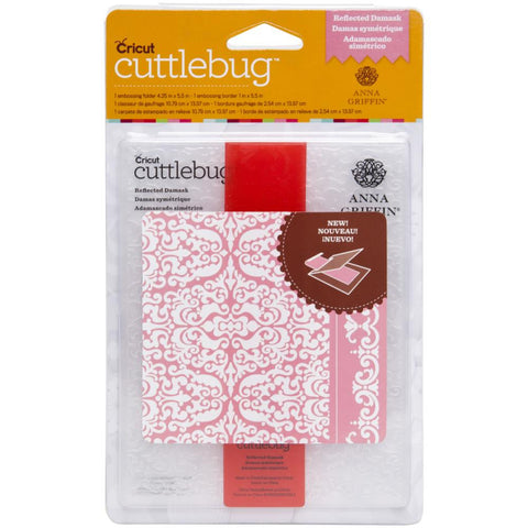 Cuttlebug A2 Embossing Folder/Border Set - Reflected Damask By Anna Griffin