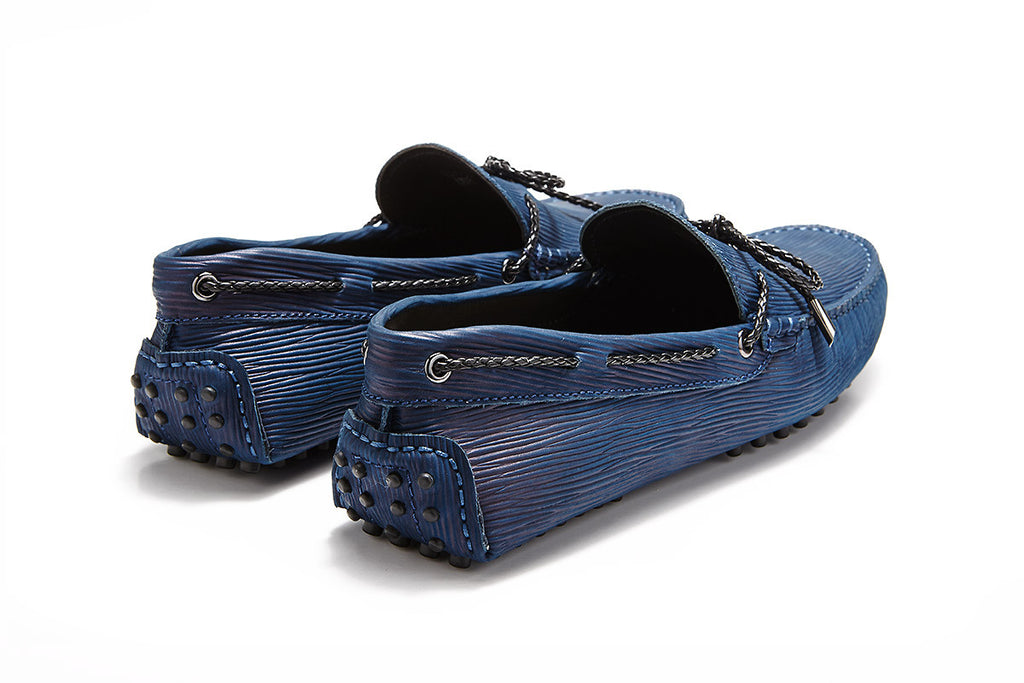 St.Tropez - Navy Textured Leather *LIMITED EDITION*