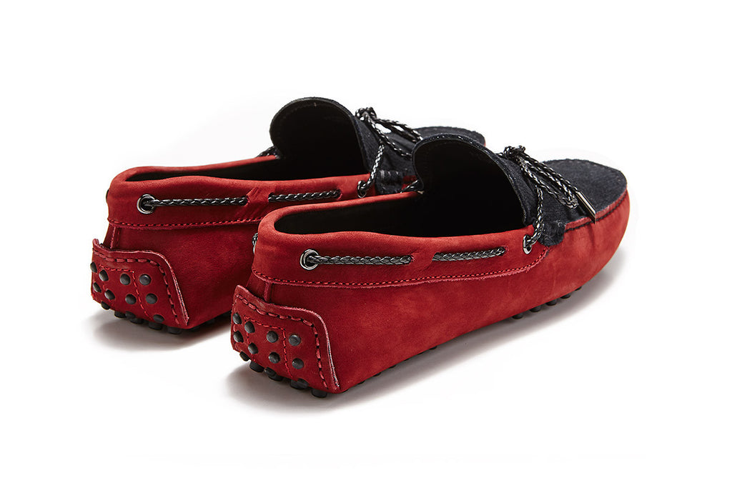 St.Tropez - Cherry Leather / Black Suede *LIMITED EDITION*