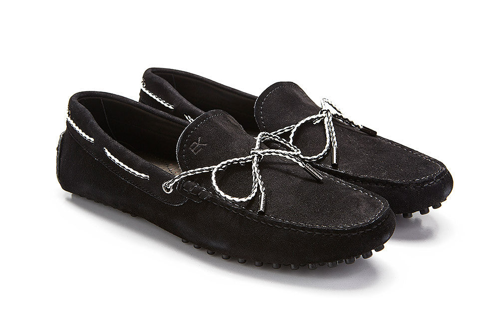 St.Tropez - Black Suede / Two Tone Rope *LIMITED EDITION*