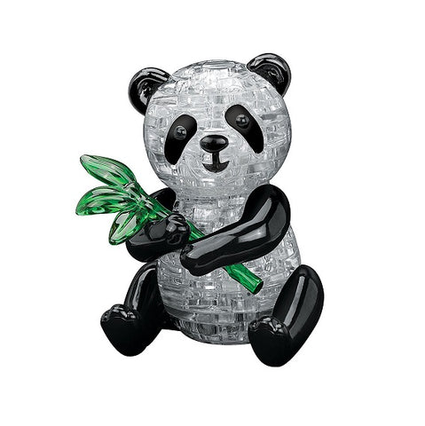 Crystal 3D Panda Puzzle complete. 3D Jigsaw Puzzles