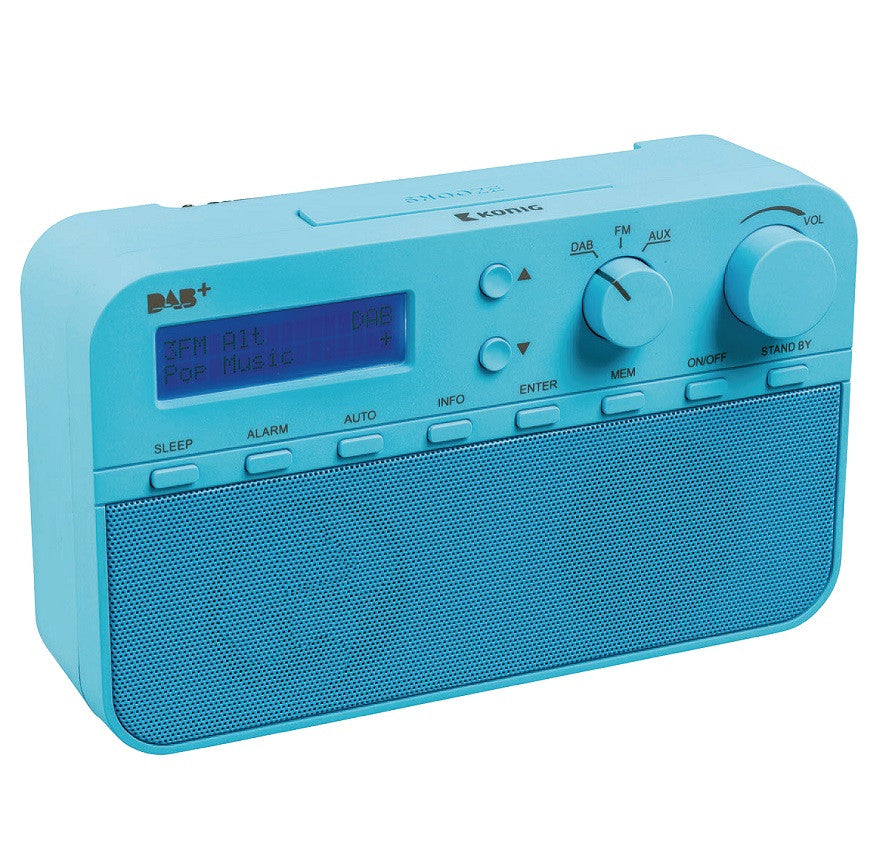 Konig Portable DAB+ Radio Blue