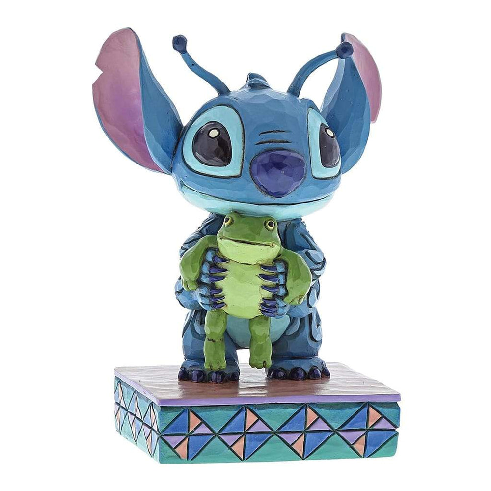 Disney Traditions Strange Life-forms - Stitch with Frog Figurine