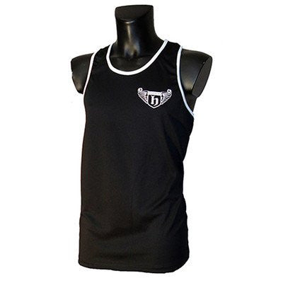 Hatton Boxing Polyester Boxing Club Vest - Black/White