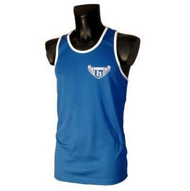 Hatton Boxing Polyester Boxing Club Vest - Blue/White