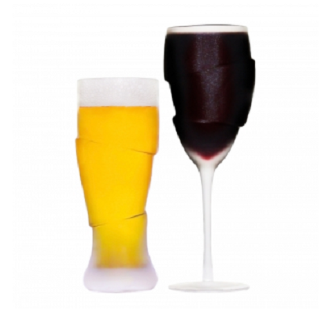 Couple Of Drunks - Beer & Wine Glass Duo
