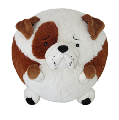"Mini Squishable 7"" Duncan English Bulldog Soft Plush Toy"