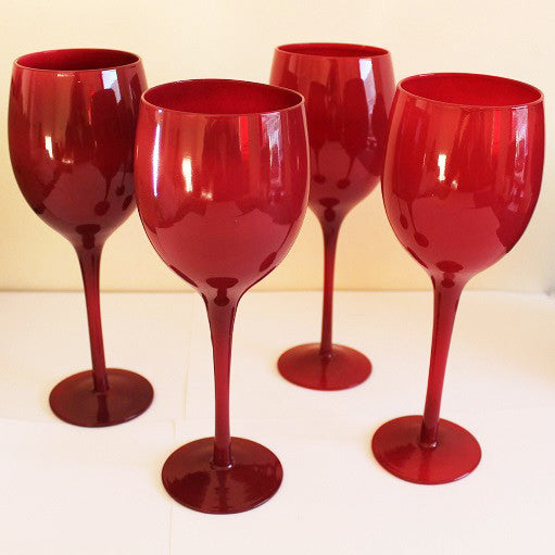 second together image of Set of 4 Red Wine Glasses