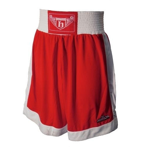 Hatton Boxing Polyester Boxing Club Shorts - Red/White