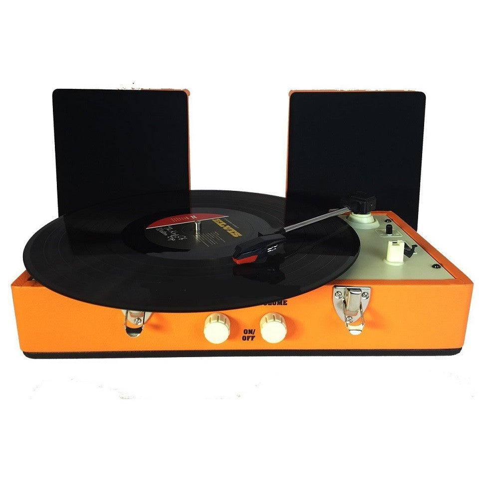 Steepletone SRP030S Retro Vinyl 2 Speed Record Player Turntable - Orange