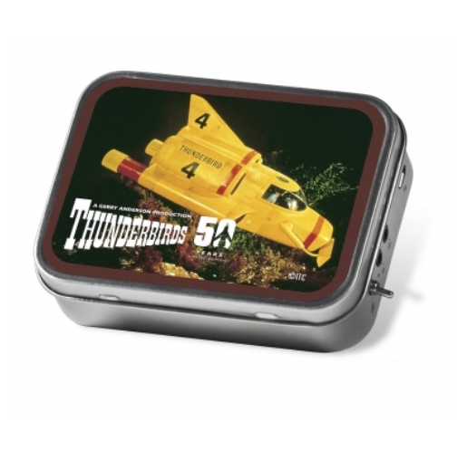 Tinamps Thunderbirds 4 Portable Speaker in Tin that is a great gift for him or gadgets gifts for men