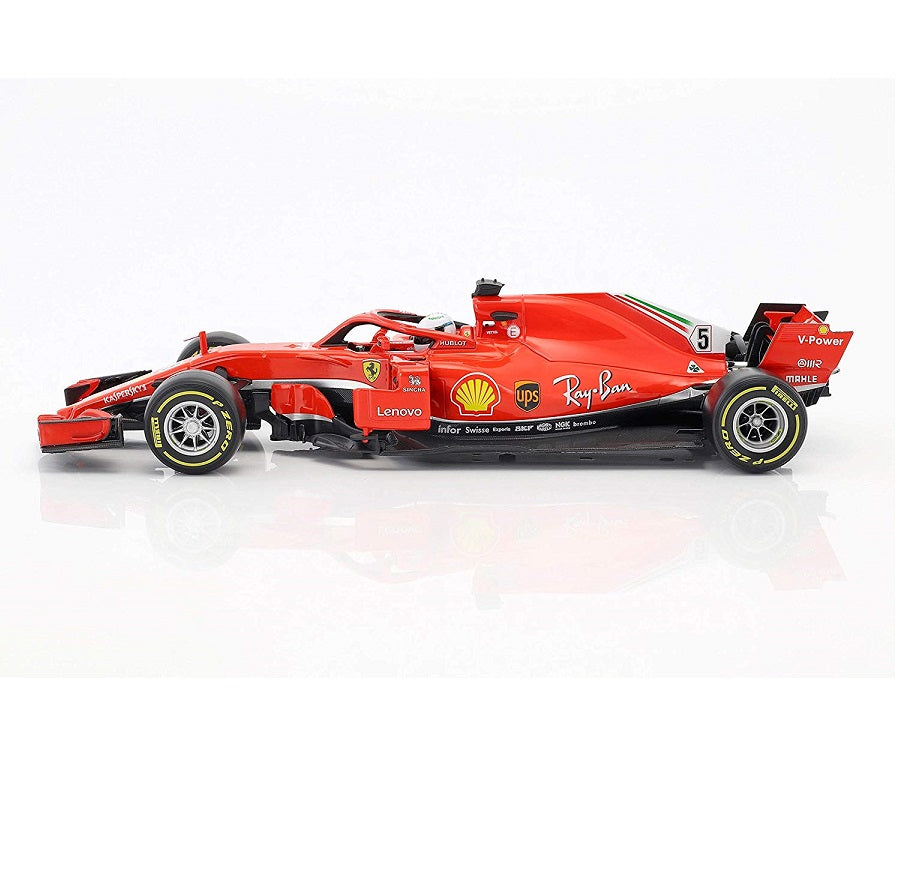 Ferrari SF71-H 1:18 Scale Vettel 2018 Season Side