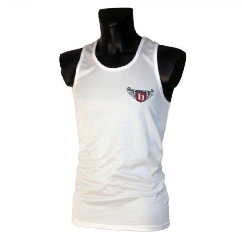 Hatton Boxing Polyester Boxing Club Vest - White
