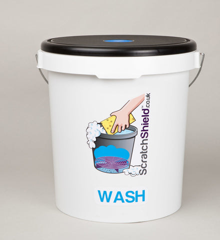 Wash Bucket with Seat Lid