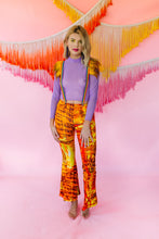 Load image into Gallery viewer, Jersey Flares in Fiery Digital Print - Trouser - Megan Crook