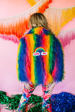 Load image into Gallery viewer, Fur Jacket- No Bad Vibes - Jacket - Megan Crook
