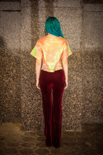 Load image into Gallery viewer, Tribal Velvet Flares in Red Burgundy - Trouser - Megan Crook