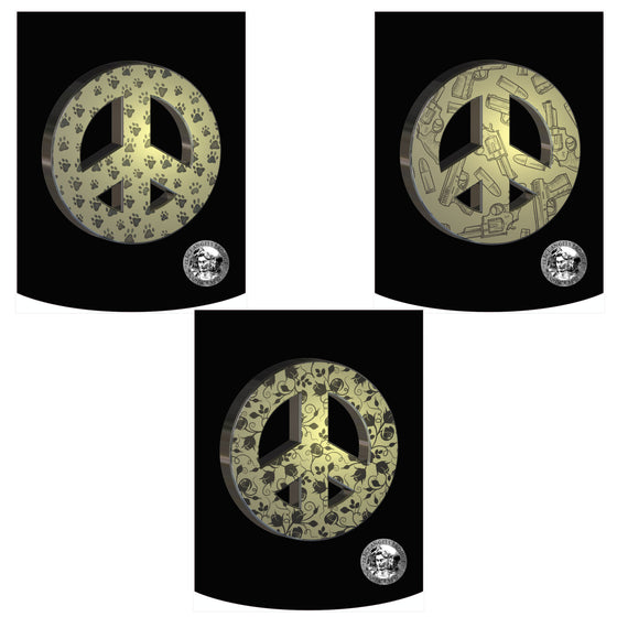 Peace Angels 3 Pack (Gold) Backpack