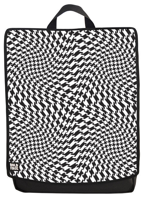 Psychedelic Houndstooth Backpack Face Panel