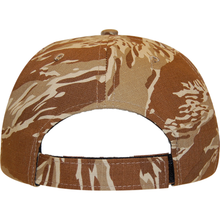 Load image into Gallery viewer, Tiger Tan Camo 6 Panel Cap - KL100TT Made In USA Hats - Cali Headwear