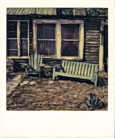 Adirondack Chairs - Death Valley | Polaroid Reproduction