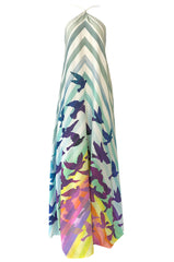 Spring 2016 Mara Hoffman Rainbow Bird Caftan Halter Unworn Dress
