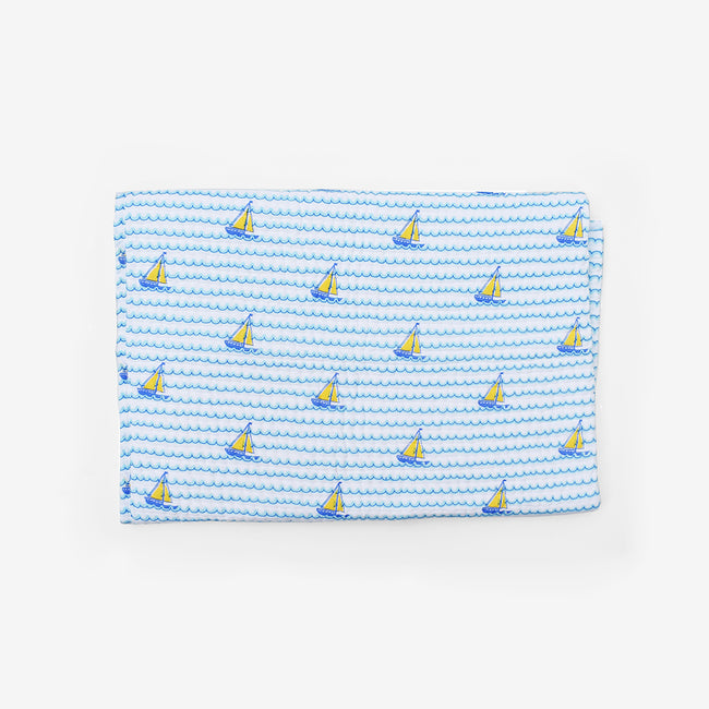 Sailboat Blue Quilt, baby