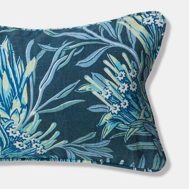 Teal Mountain Devil Pillow, lumbar