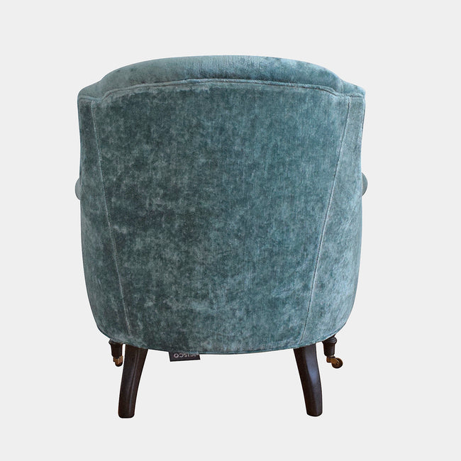 Tulip Chair in Velluto Aqua
